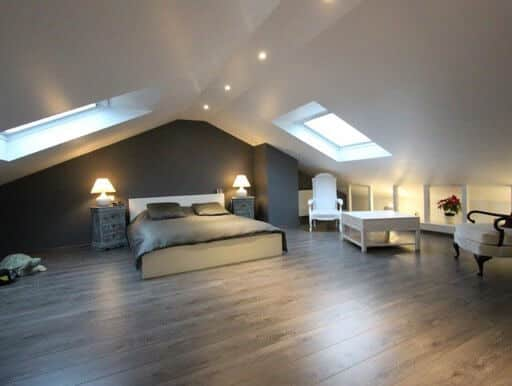 Chambre parentale sous combles am nag s 91 mennecy am nagement de combles par johan harnois for Photo amenagement combles