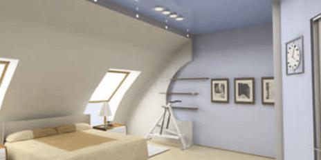Combles chambre bleue - Aménagement de combles par Johan Harnois ...