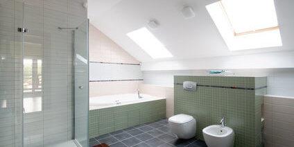 combles aménagés par johan harnois : salle de bain et vélux ... - Velux Pour Salle De Bain